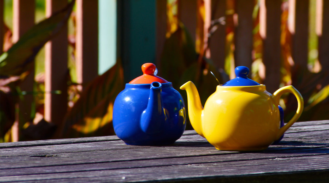 Tea, Tea pots, Tutti Fruitti, Bilpin, Blue Mountains, Australia