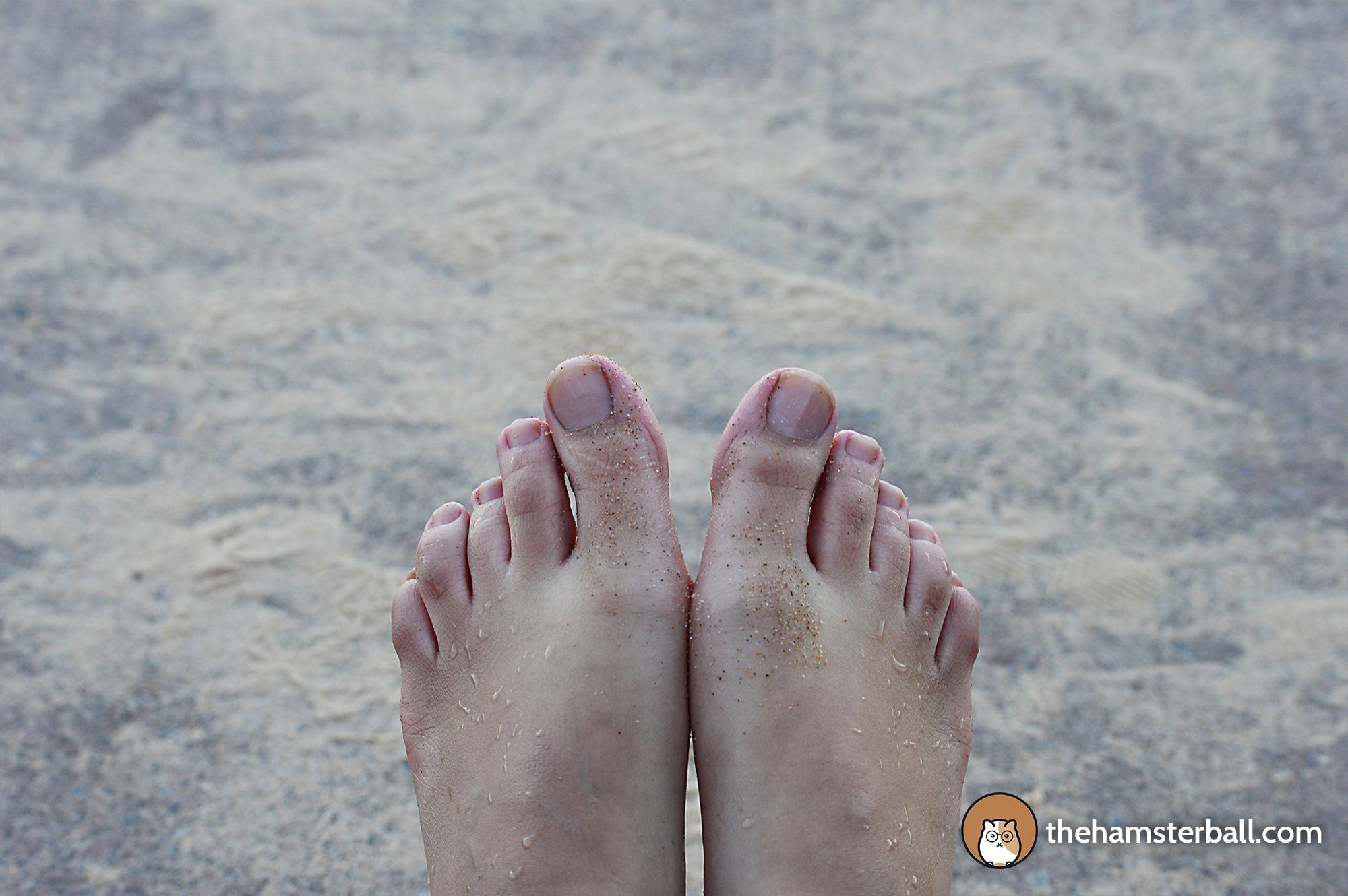 Cold Feet, Sand, Austinmer Beach, Wollongong, Australia